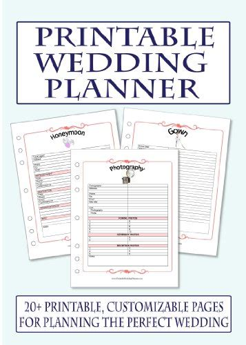 free printable planner for wedding 7 best images of free printable wedding planner book