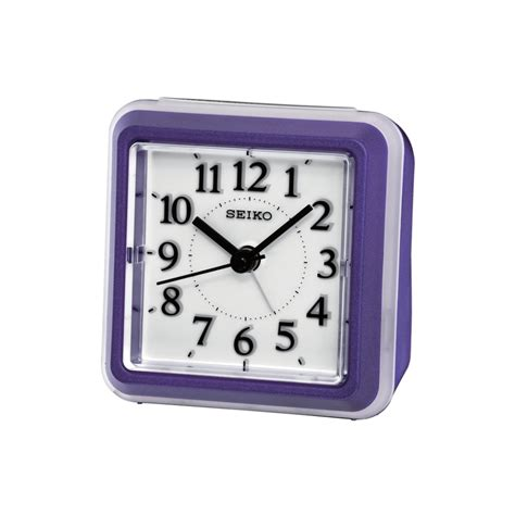 Bedside L With Clock by Seiko Purple Bedside Alarm Clock Qhe090l Seiko From