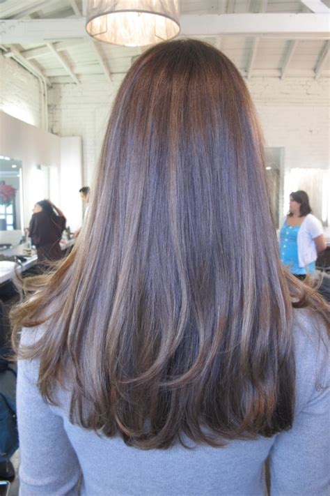 brunette hairstyle with lots of hilights for over 50 25 best ideas about brown straight hair on pinterest