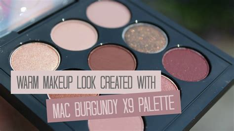 Eyeshadow X9 warm makeup tutorial with mac burgundy eyeshadow x9
