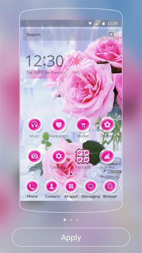 themes rose pink rose love theme android apps on google play