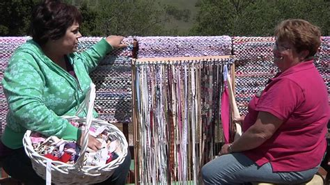 How To Make A Rug Out Of Carpet Rag Rug Weaving Youtube