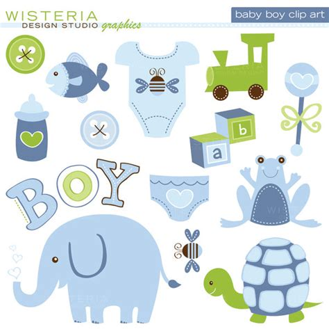 popular items for baby boy clipart on etsy baby shower baby boy things clip cliparts