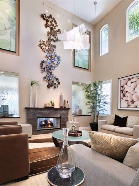 decorating large walls with high ceilings how to decorate a large living room to make it feel cosy
