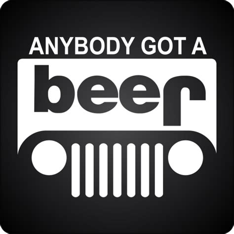 jeep beer anybody got a beer reworked jeep logo decal jeep