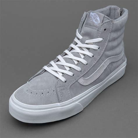 Sepatu Vans High sepatu sneakers vans womens sk8 hi slim zip cool grey