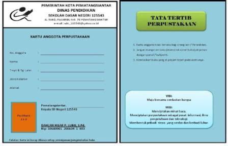 buku kunjungan komite sekolah sekolah dasar negeri 125543 kartu perpustakaan sekolah dasar negeri 125543