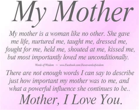 mother quotes facebook quotes for mom quotesgram