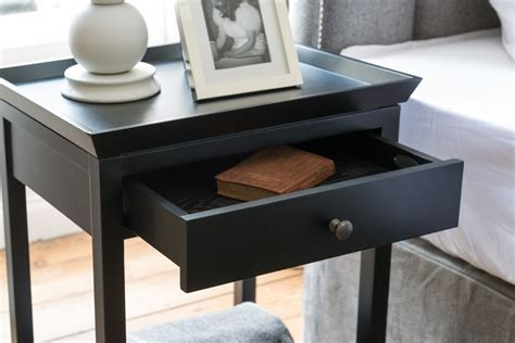 tall side tables bedroom neptune aldwych side table warm black bedside furniture
