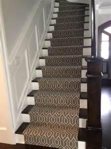 Gray Stair Runner by Geometric Stair Runner Modern New York By Michelle