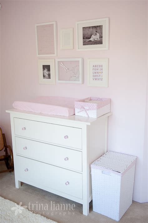 White Dresser For Nursery by Simple Pink And White Nursery Project Nursery