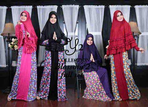 Arindi Merah Gamis Kaftan Abaya Syari blossom syari set bergo gamis syari yang cantik dan adem butik destira