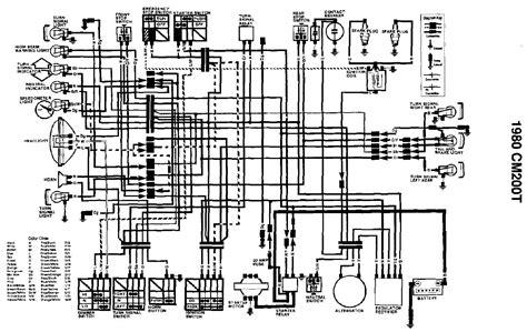 honda cm200t motorcycle wiring diagrams cm free