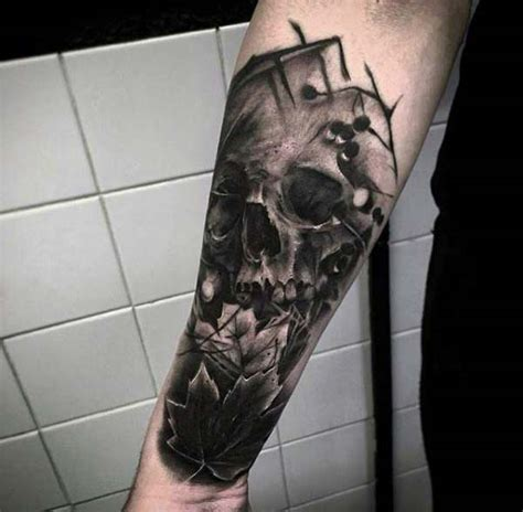 shaded skull tattoo designs 75 tattoos for masculine ink design ideas