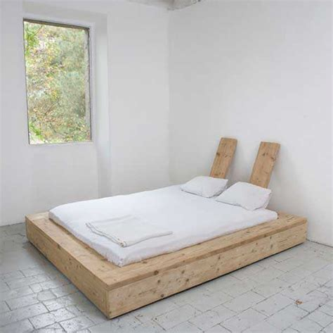 easy diy bed frame a diy bed made from reclaimed wood remodelista