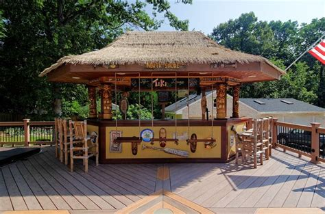 backyard tiki bar sets tiki bar with swing stools by core outdoor living