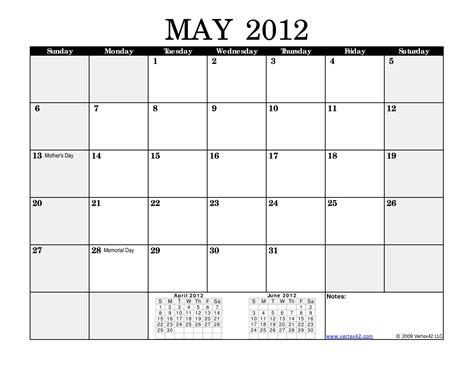 Calendar May May Calendar 2012 Monthly Calendar Black Landscape Page