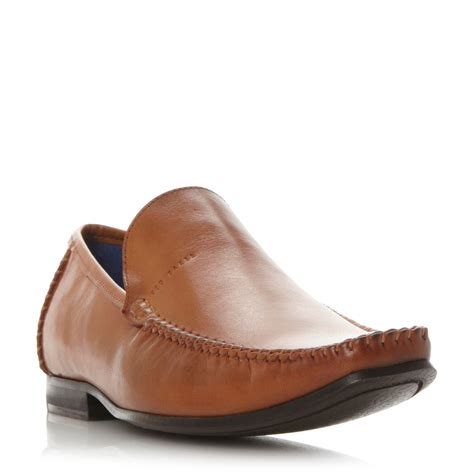moccasin loafer ted baker bly moccasin loafers in brown for lyst