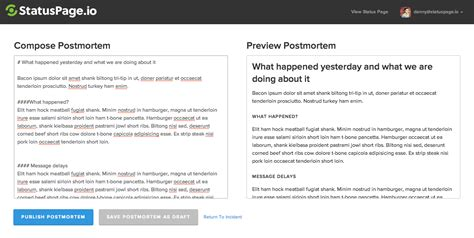 Incident Update Postmortem Redesign Statuspage Io Blog Incident Post Mortem Report Template