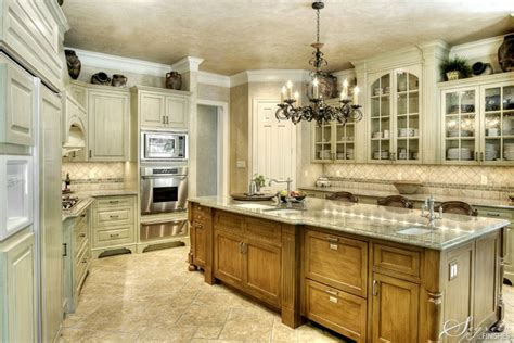 Pictures Of Kitchens With Different Color Cabinets Two Different Cabinet Colors For The Home Pinterest