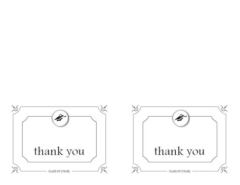 Graduation Thank You Card Templates Microsoft by Graduation Office
