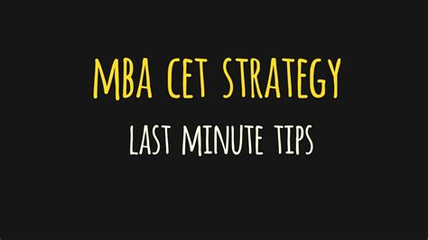 Mba Competition Tips by Back2basics Strategy For Mba Cet