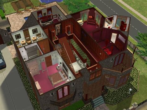 floor plan munsters house 1313 mockingbird lane mod the sims the munsters 1313 mockingbird lane