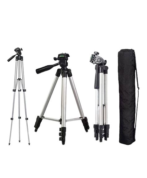 Diskon Tripod Portable Stand 3110 For Or Mobile Phone weifeng wt3110 portable tripod stand silver silicon pk