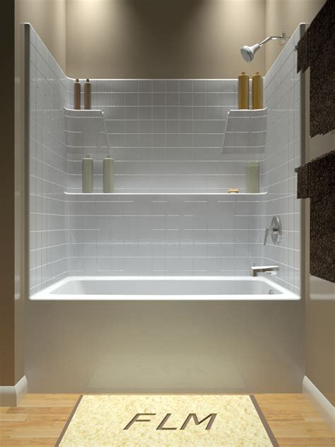 combined shower and bathtub tub and shower one piece
