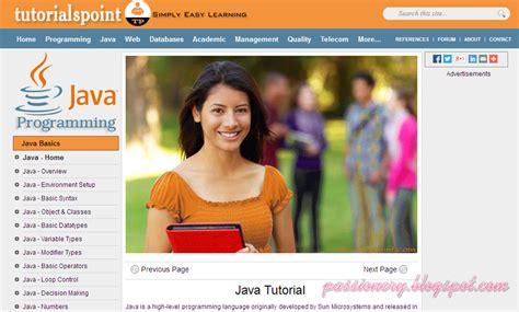 java tutorialspoint php 5 trang web hay để học java passionery