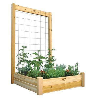 gronomics raised garden bed  trellis kit xx