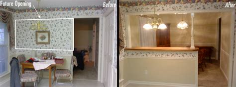 Opening Up A Kitchen Before And After Inspired Remodeling Tile Bloomington Indiana