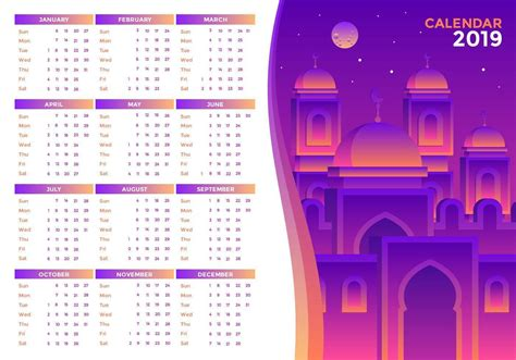 islamic  printable calendar vector   vectors clipart graphics vector art