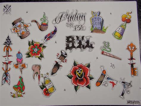tattoo flash friday the 13th tattoos for friday the 13th steel ink studio tattoo