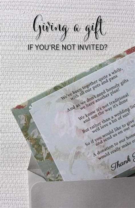 Wedding Gift Etiquette When Not Invited by Giving A Gift When You Aren T Invited Southern
