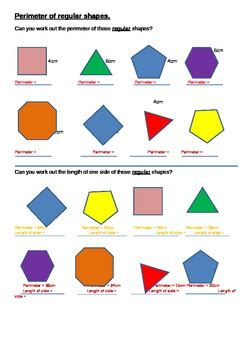 perimeter of regular shapes (48 items) by a r mathematics