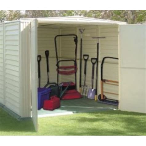 Storage Shed On Sale by Duramax 00882 Yard Mate 5x8 Storage Shed On Sale With Free Shelving