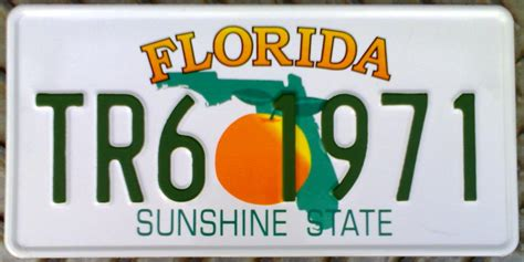Florida State Number Search Car License Tin Plate On License Plates Registration Plates And Plates