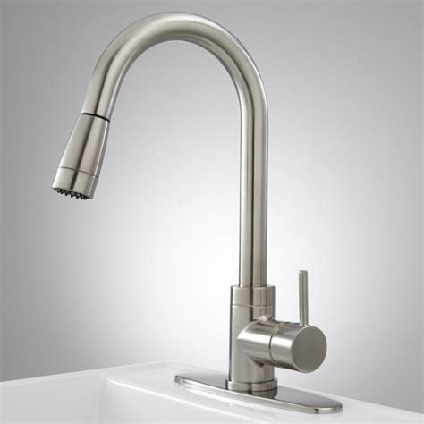 robinet pull kitchen faucet with deck plate kitchen