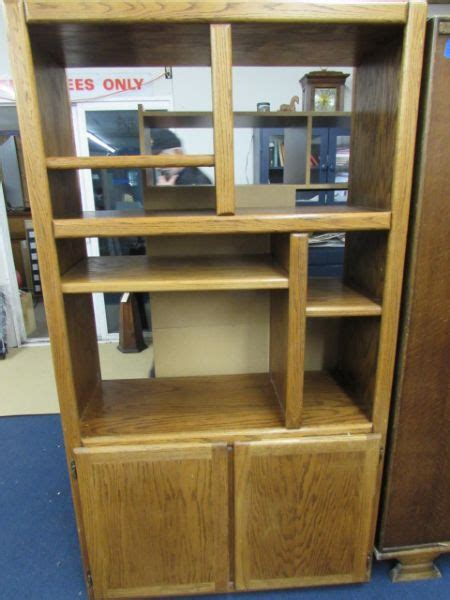 entertainment shelving units lot detail entertainment shelving unit oak veneer over