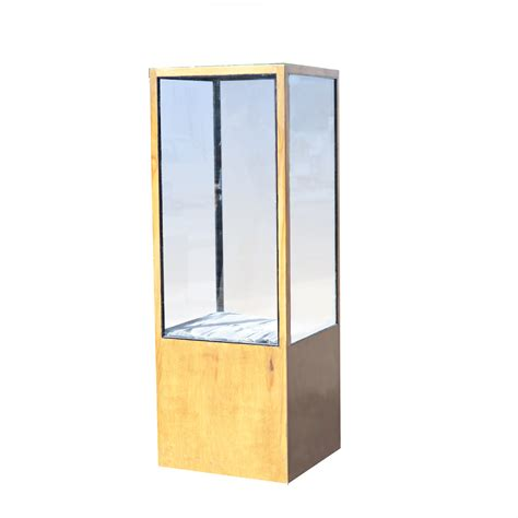 77 quot wood and glass display