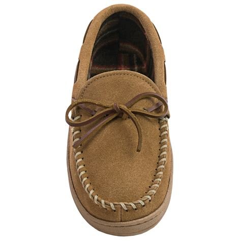 fleece lined moccasin slippers clarks plaid suede moccasin slippers for 9383g