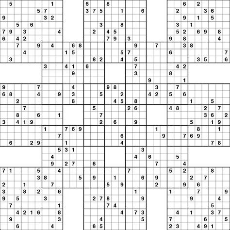 printable sudoku puzzles pdf 4 best images of printable samurai sudoku grid printable