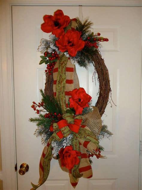 country christmas grapevine wreath custom wreaths by