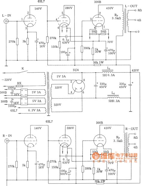 Power Lifier Rogers 300b schematic 6l6 push pull schematic