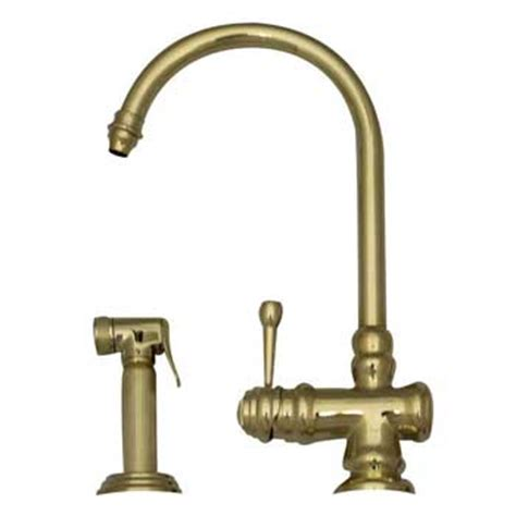 whitehaus kitchen faucets whitehaus wh17666 pbras evolution single handle kitchen