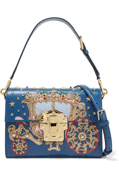 Designer Handbag Sale Net A Porter by Dolce Gabbana Lucia Embellished Appliqu 233 D Lizard