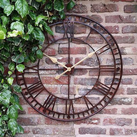 Outdoor Clocks Outdoor Acurite 18inch Atomic Metal Large Garden Wall
