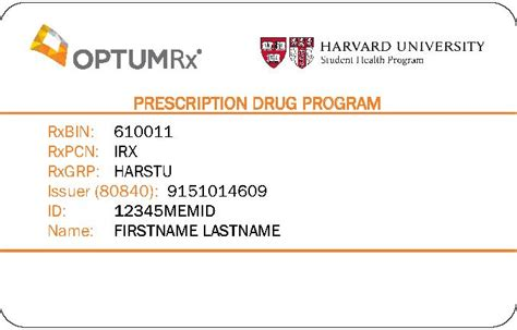 Gift Card For New Prescription 2017 - prescription drug plan harvard university student health program