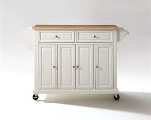 Kitchen Cart Island by Crosley Furniture Natural Wood Top Kitchen Cart Island In